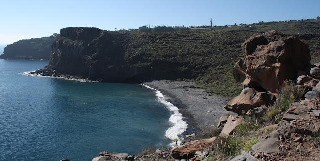 Nude beach Playa del Medio (La Gomera)