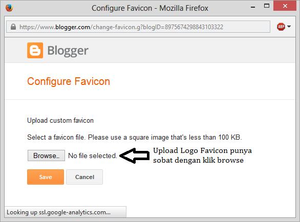 cara browse logo favicon blogger