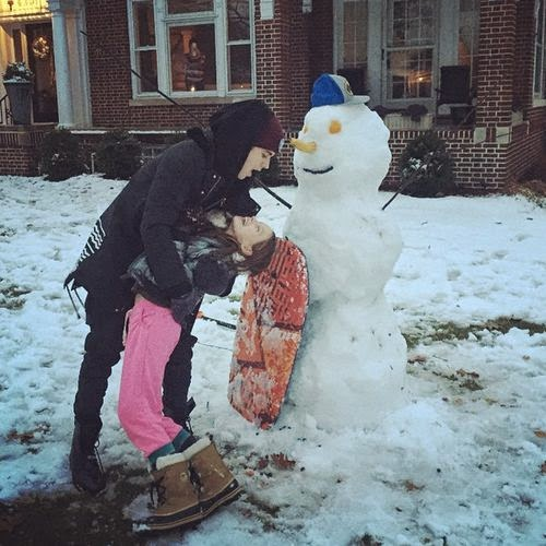 'This little sweetness' | In the snow: Justin Bieber shows his true love