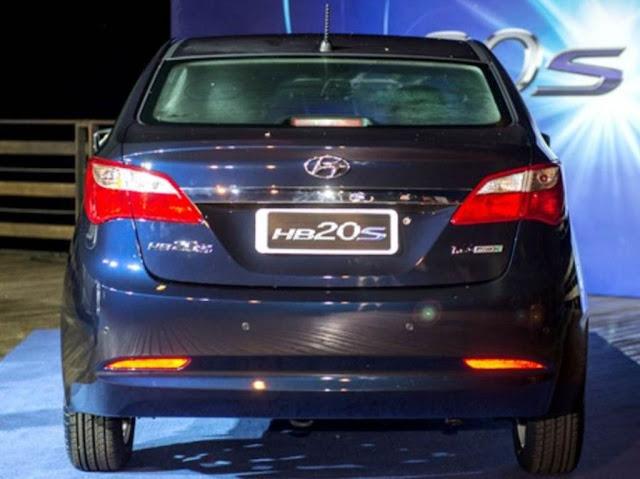 Hyundai HB20S Sedã - traseira