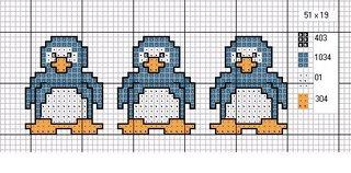 Gráfico para bordado de Pinguim