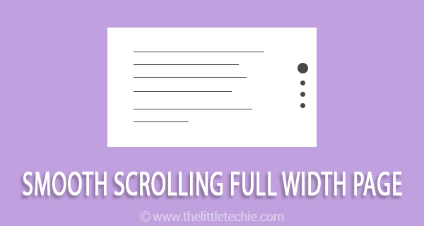 Smooth scrolling full width page