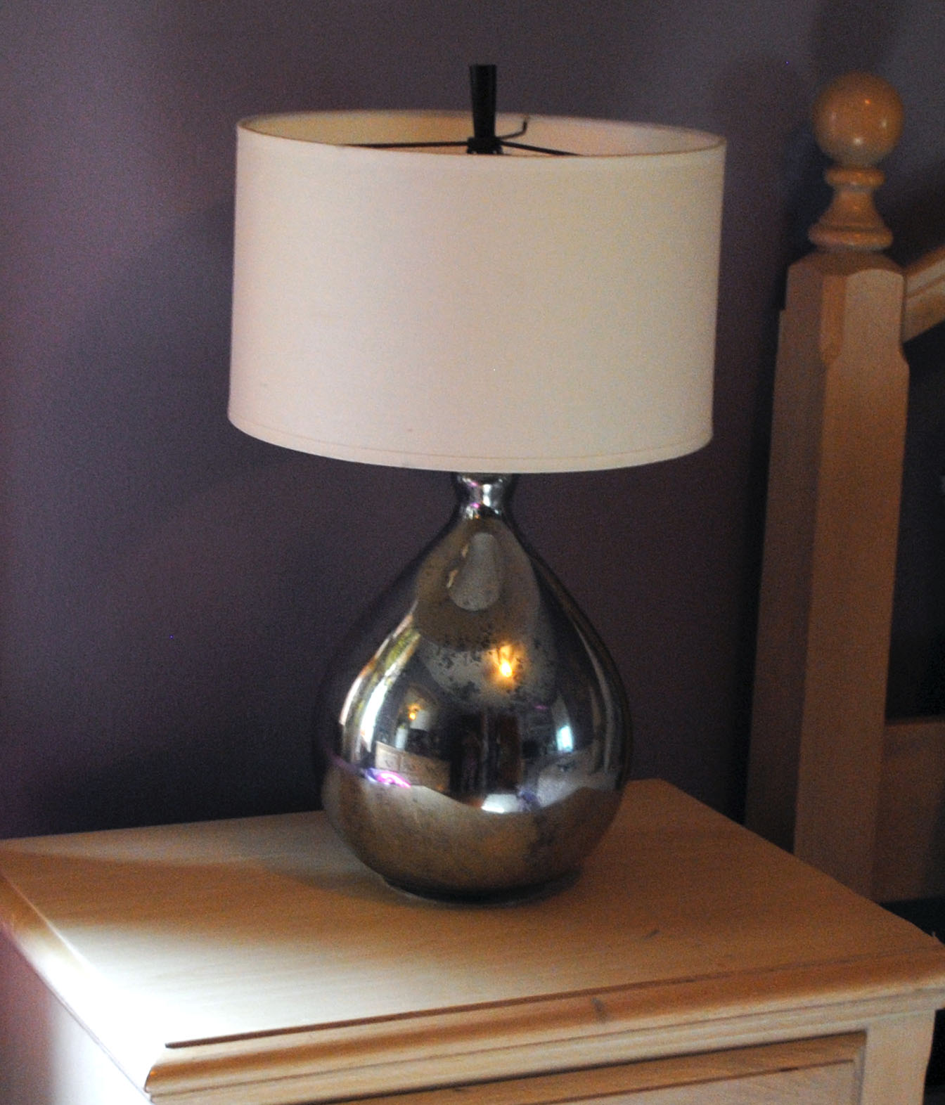 one day at a time pb knock off mercury glass lamps. Black Bedroom Furniture Sets. Home Design Ideas