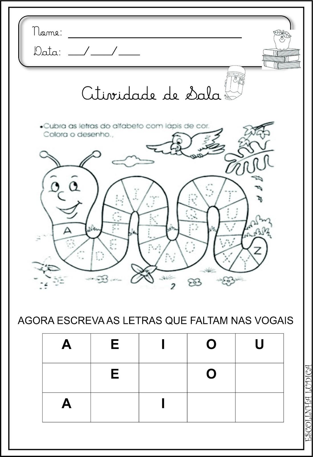 Preferência Atividades de Alfabetização Infantil | Escolinha Lúdica :: XZ89