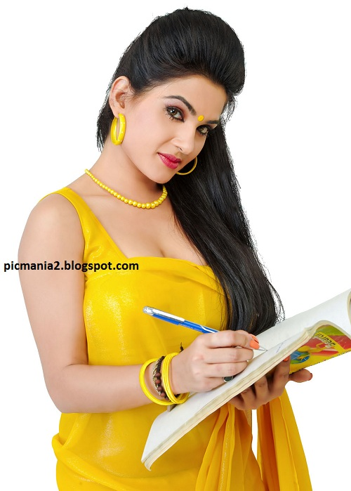 Kavya Singh Hot In Saree Blouse In I Love U Teacher