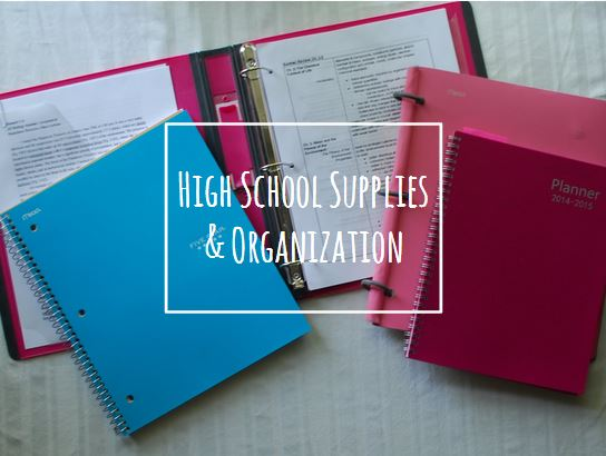 High School Supplies & Organizational Tips + What's In My School ...