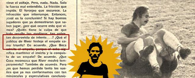 Hinchada de River festeja empate en la Bombonera 1976