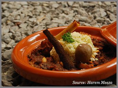Tajine with Cous Cous at harem Meeza