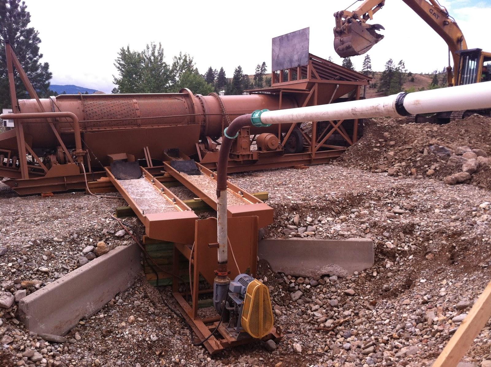 Gold Mining with washplant