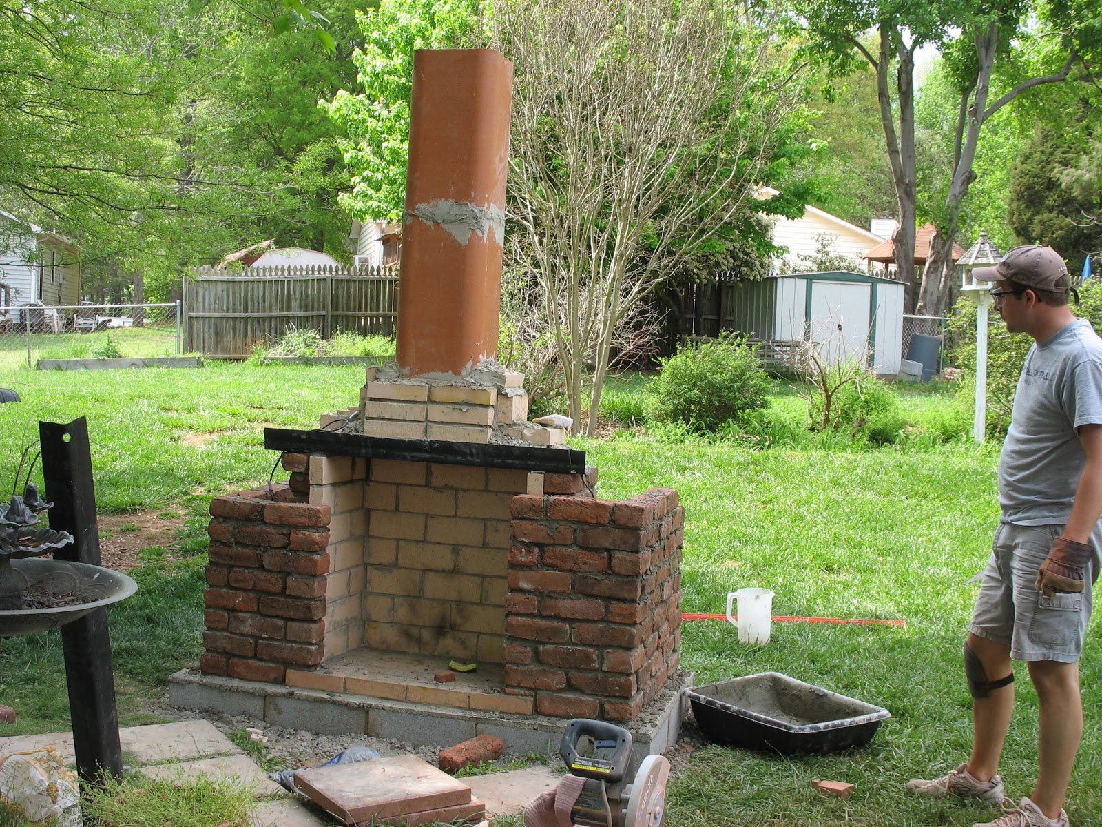 outdoor brick fireplace diy viewing gallery