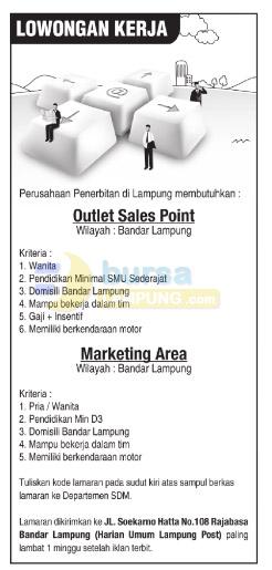 Lowongan Kerja Lampung Post