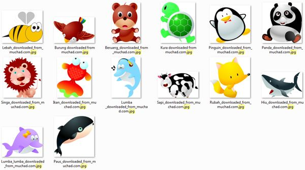 Gambar Karakter berbagai Binatang
