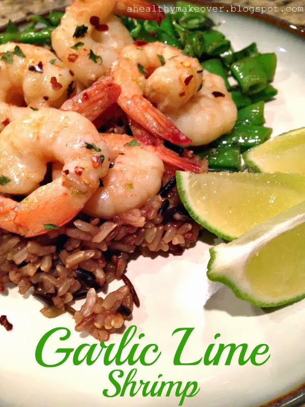 Healthy Makeover: Garlic Lime Shrimp