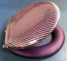 Glitter Silver or Glitter Gold striped padded toilet seat in 30 background colors. By Cloud Soft Seats since 1969