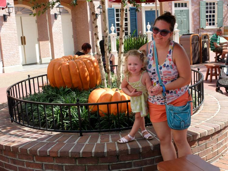 Walt Disney World's Magic Kingdom Autumn Decorations