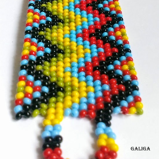 ethnic style beaded jewelry-colorful seed bead bracelet-bright cuff-native american