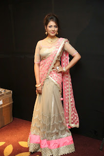 Madhu Shalini IN Designer Saree Spicy Shining Transparent Choli Blouse Must See Beauty