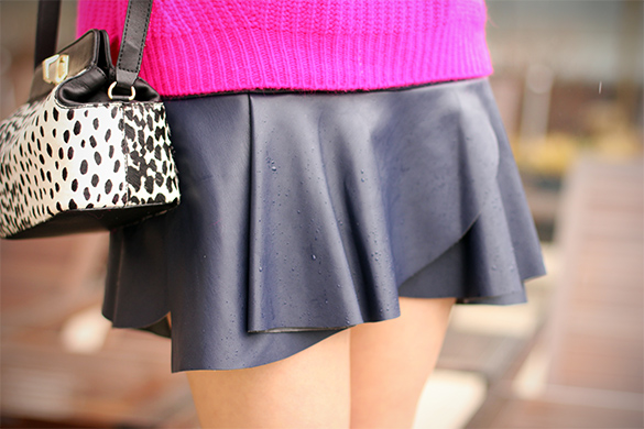 Zara navy blue poplin mini skirt