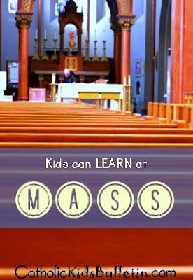 Catholic Kids Bulletin, Help Kids LEARN at Mass! FREE PRINTABLE