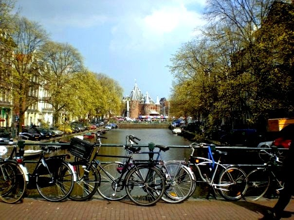 bikes and canal, Amsterdam