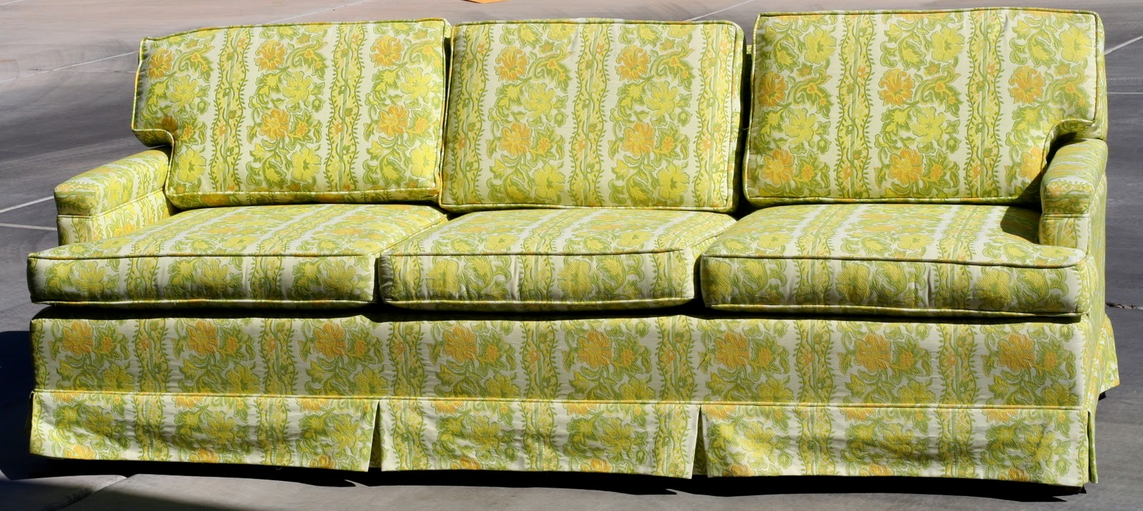 An Old Grandma Couch From 1968. Lemon Lime With Cream. Not The Cutest Girl  In The Room, Thatu0027s For Sure, But I Could Tell She Had Great Bones  Clean,  ...
