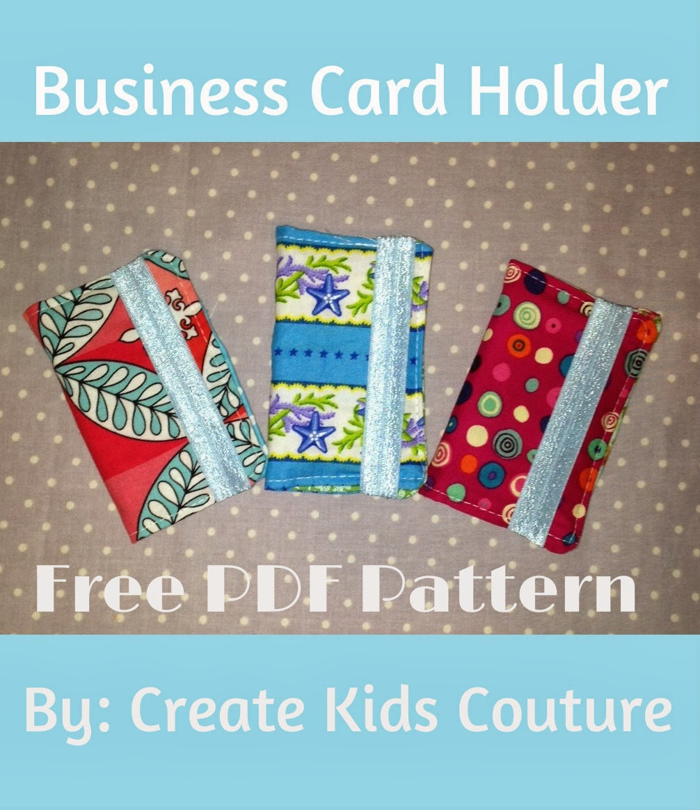 Create kids couture business card holder tuesday december 31 2013 reheart Gallery
