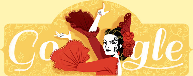 Lola Flores' 93rd Birthday - Google Doodle