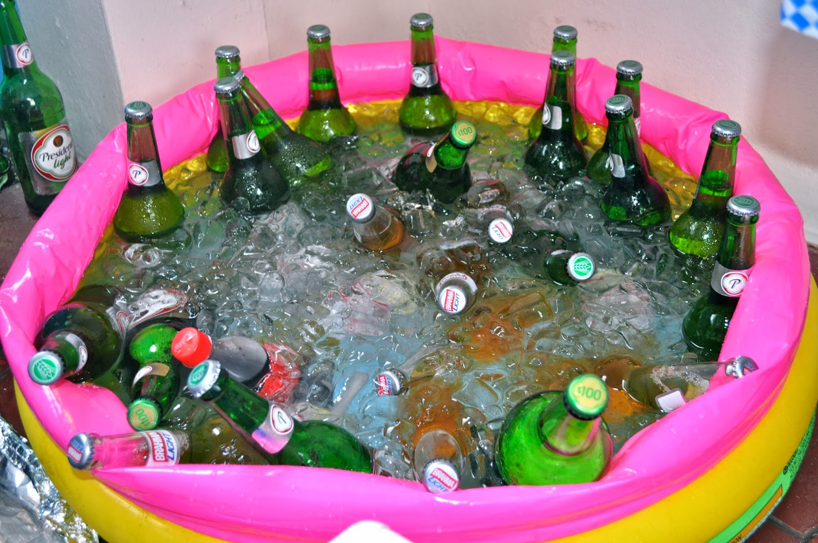 Pool Party Ideas For Adults flamingo drink cart at a pink flamingo pool art birthday party by kara allen Drinking The Whole Bottle Oktoberfest And Two Year Olds Who Knew