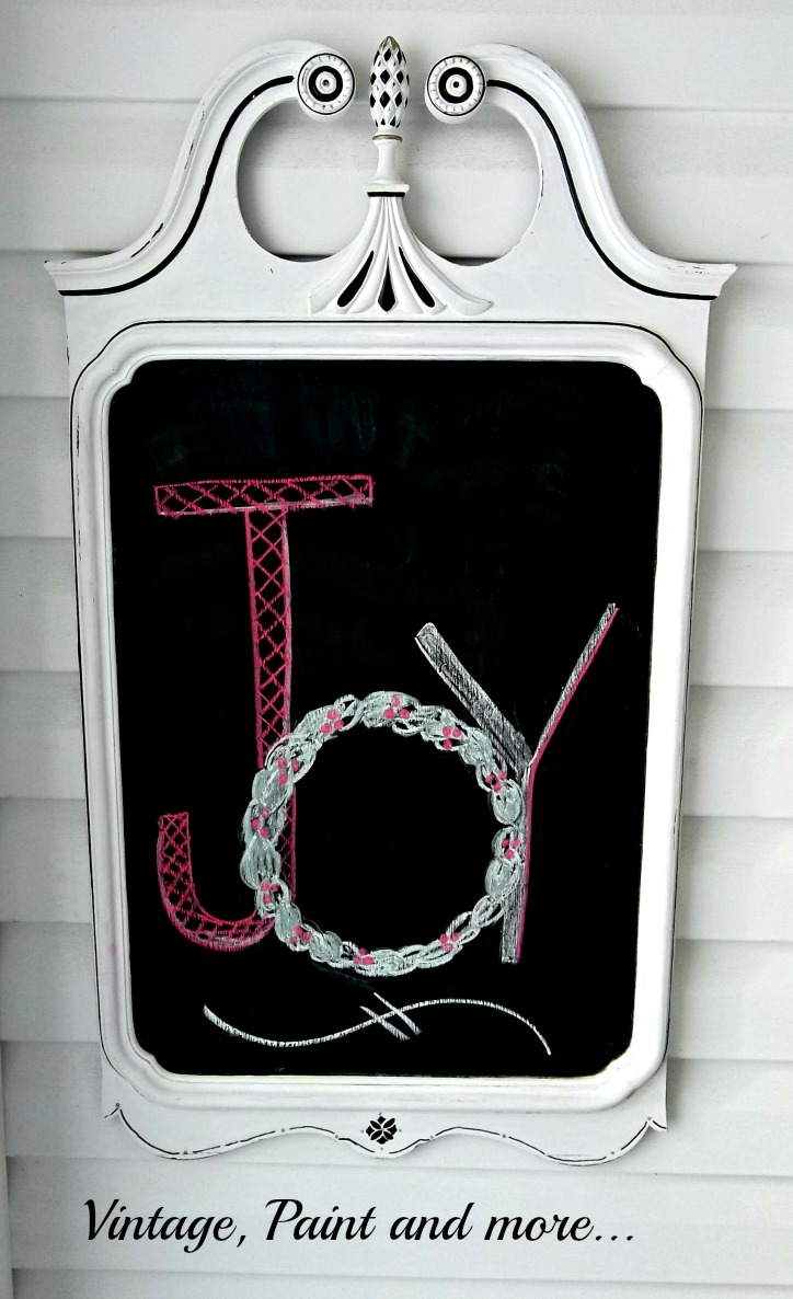 Vintage, Paint and more... Chrismas chalkboard made from thrifted mirror  painted with DIY chalkpaint