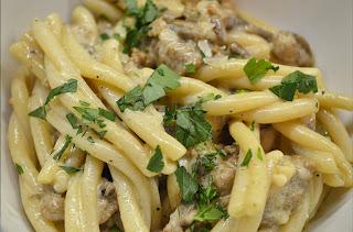 caserecce pasta with norcnia sauce