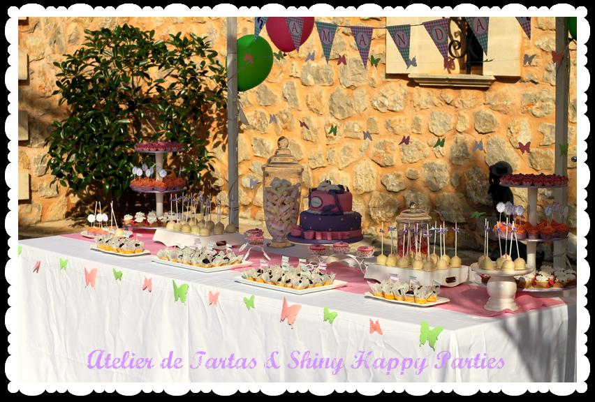 Shiny happy parties mallorca ponys y mariposas para el - Decoracion de mesas cumpleanos adultos ...