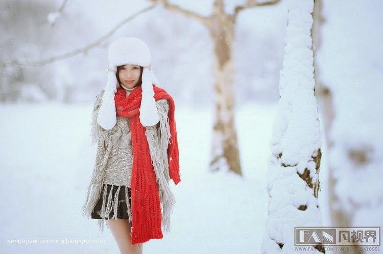 Dạo chơi ngoài tuyết lạnh 6