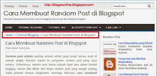 cara membuat breadcrumb di blogspot