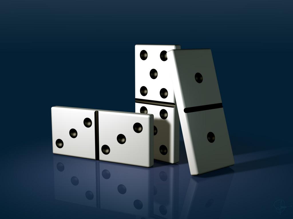 ... dominó uma pequena palinha o dominó surgiu na china provavelmente