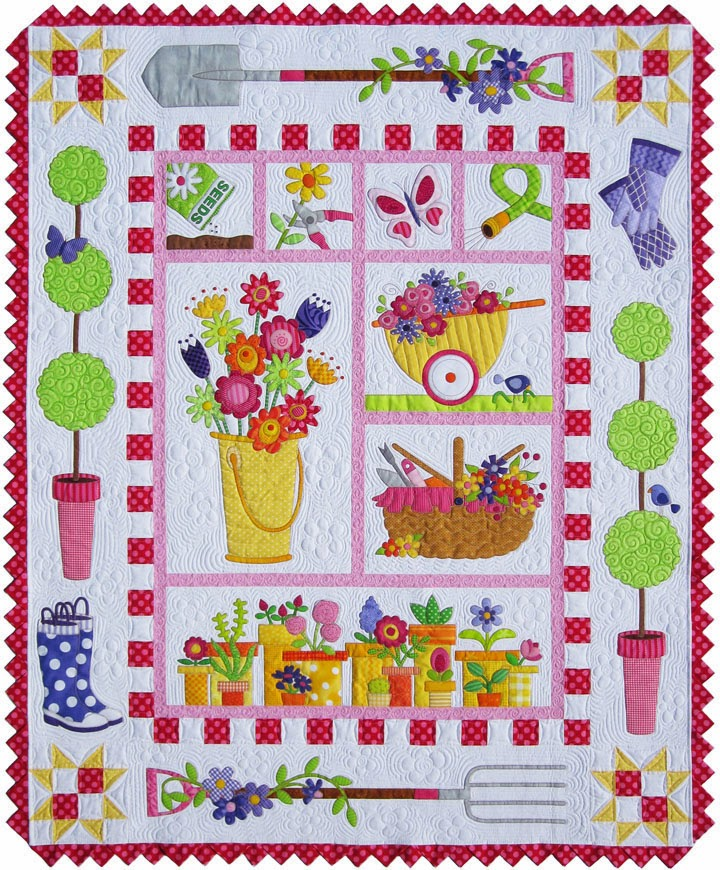 Amy bradley designs new garden quilt pattern give a way for Garden patterns ideas