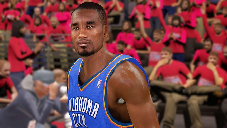 NBA 2K14 Serge Ibaka Cyberface Patch