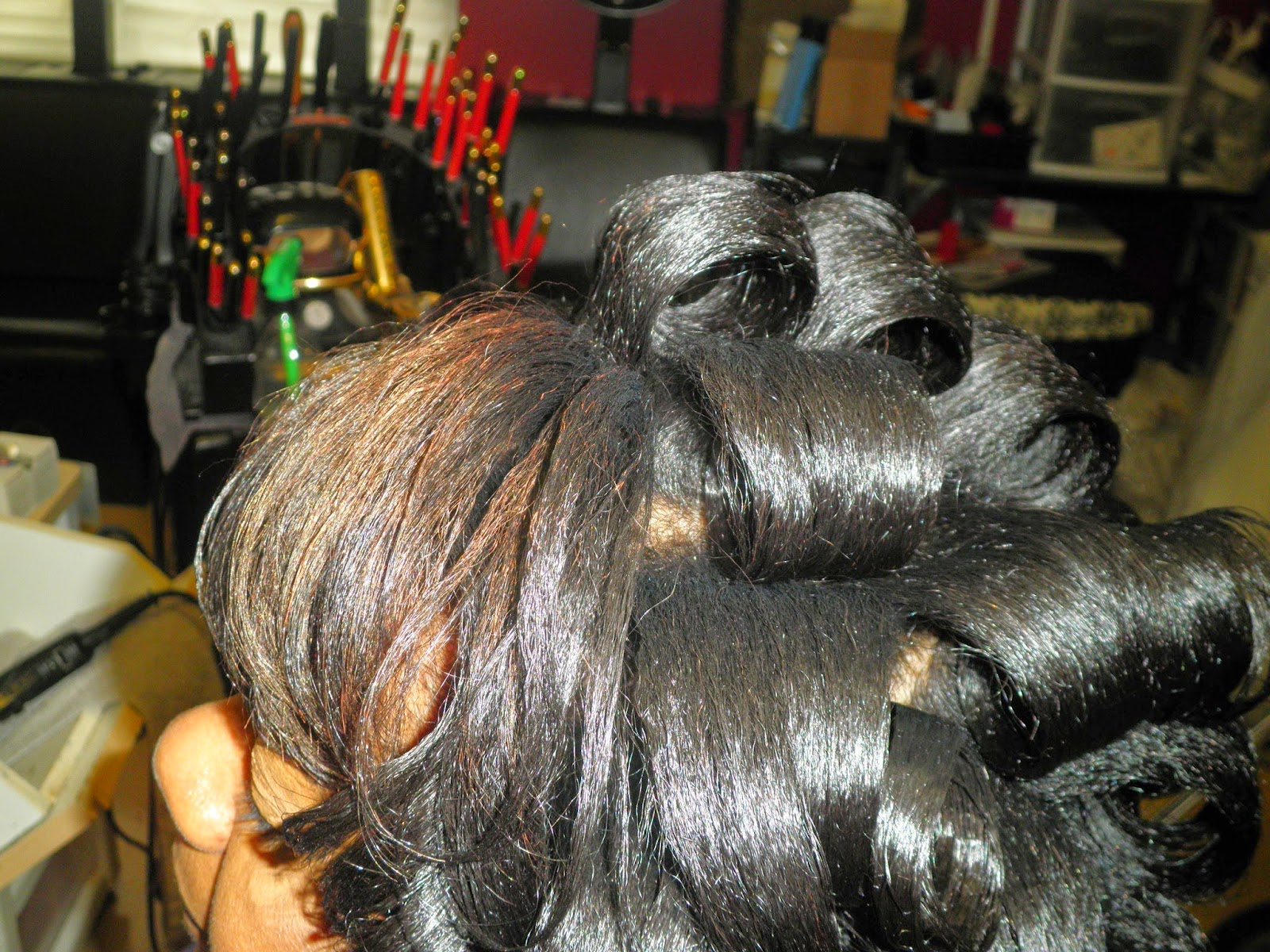 Phenomenalhaircare Liquid Chalk Highlights On Relaxed Hair