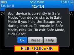 Cara Masuk Save Mode Blackberry