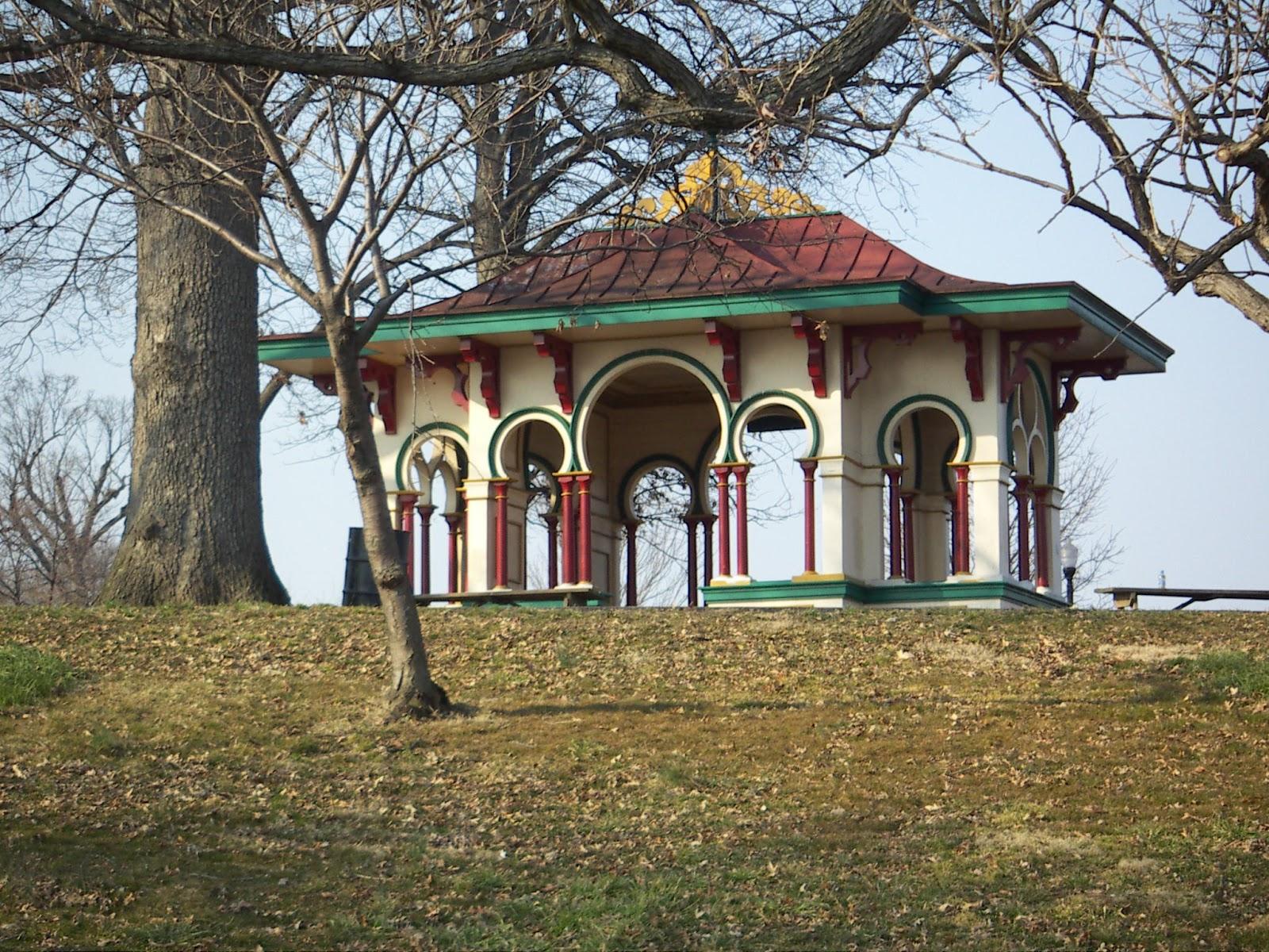 The druid hill park pavilion i love the colors