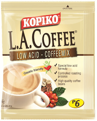 koipiko la coffee, kopiko low acid coffee, kopiko la coffee review