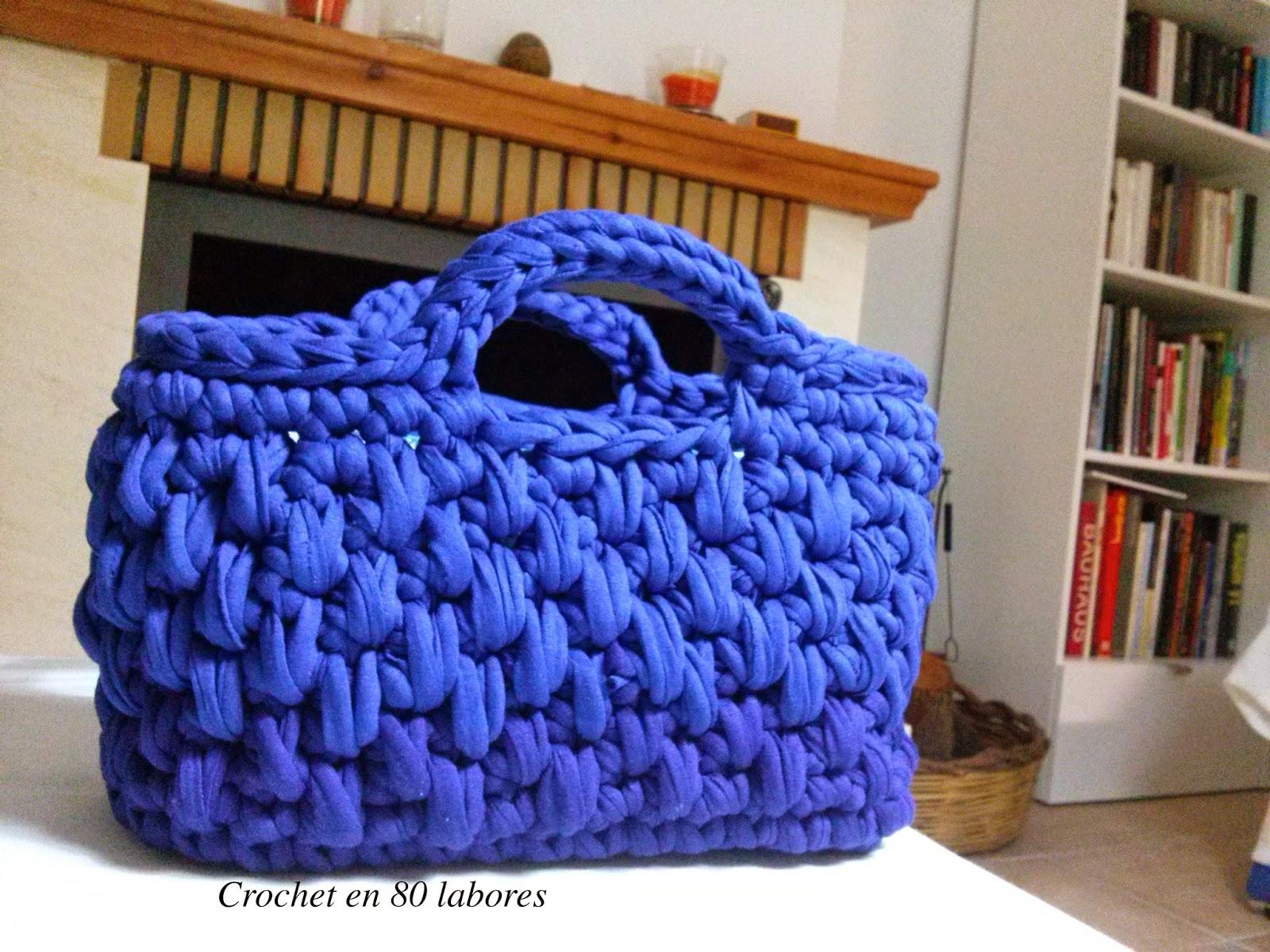 Crochet en 80 labores patr n bolso de mano de ganchillo - Puntos crochet trapillo ...