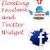 Awesome Floating Facebook and Twitter Widget For Blogger/Blogspot