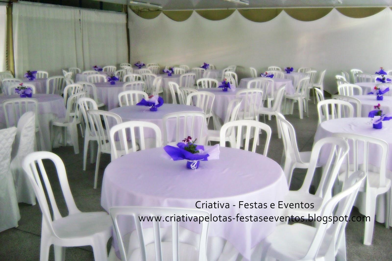 Criativa Festas e Eventos Decoração de Casamento  Lilás e Branco