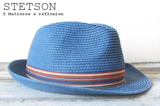 Chapeau bleu femme Stetson paille Monett