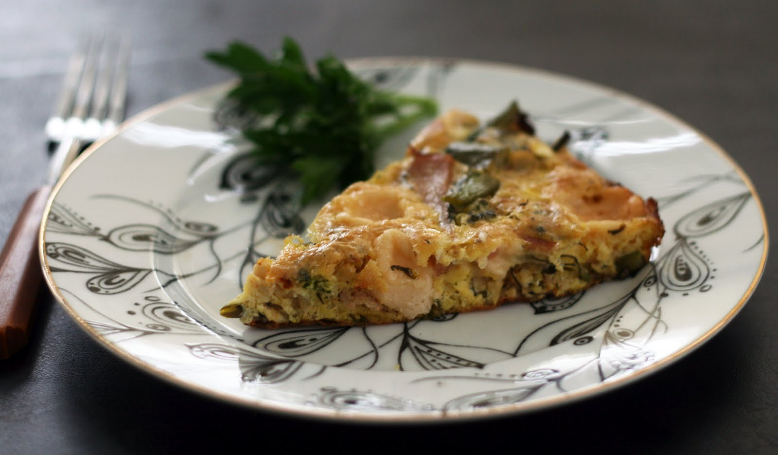 Coconut & Lime // Rachel Rappaport: Broccolini Canadian Bacon Frittata
