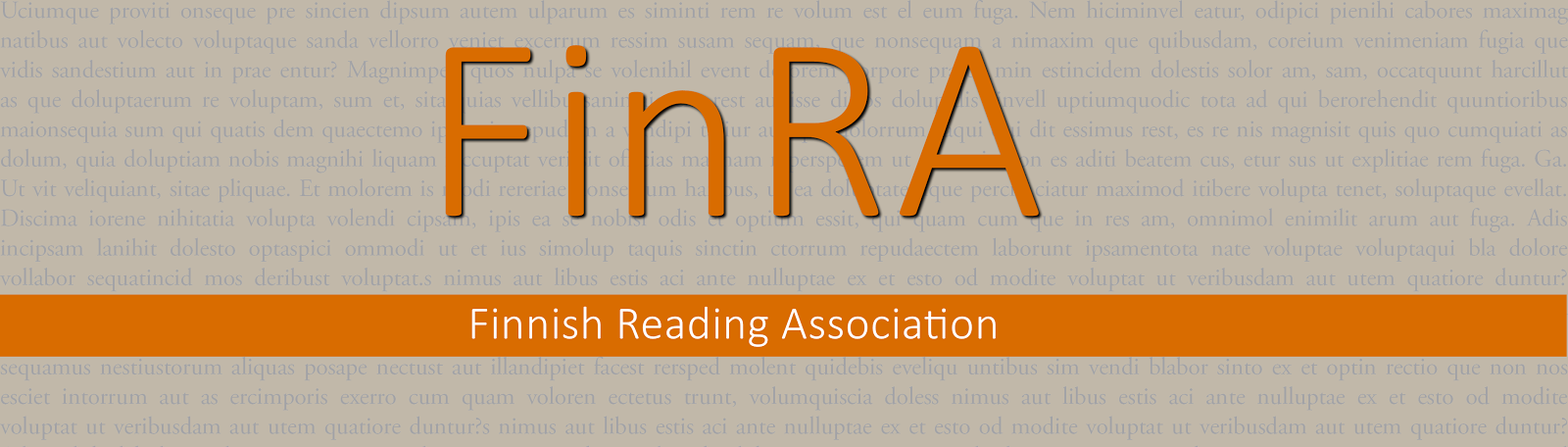 FinRA - Finnish Reading Association
