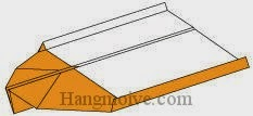 Bước 9: Hoàn thành cách xếp máy bay không người lái bằng giấy theo phong cách origami.