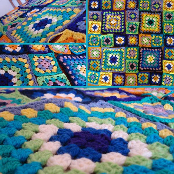 Rainbow Granny Square Blanket Pattern Granny Square Blanket in