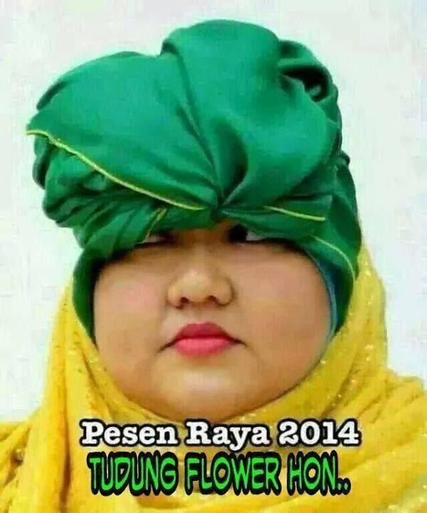 Fesyen Raya 2014 - Tudung Flower Hon
