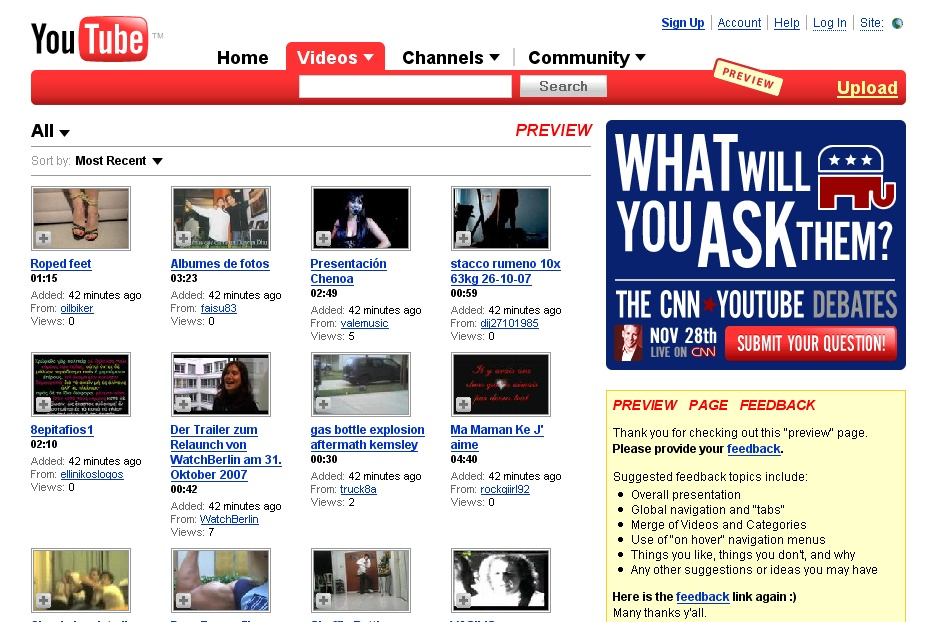 RNIT: YouTube Releases New Look To Everyone
